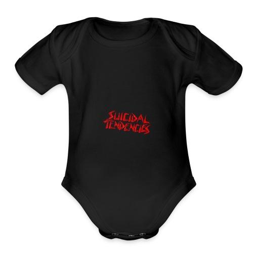 Suicidal tendencis - Organic Short Sleeve Baby Bodysuit