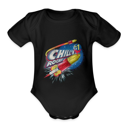 rocket - Organic Short Sleeve Baby Bodysuit