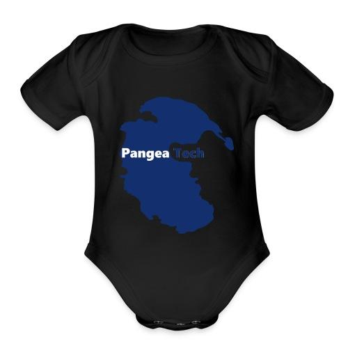 Pangea Tech Logo - Organic Short Sleeve Baby Bodysuit