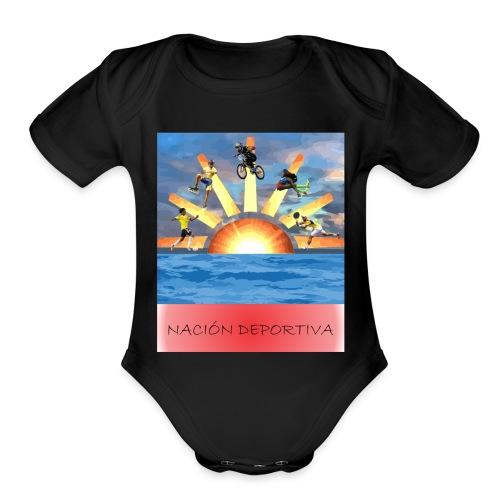 NACION DEPORTIVA - Organic Short Sleeve Baby Bodysuit