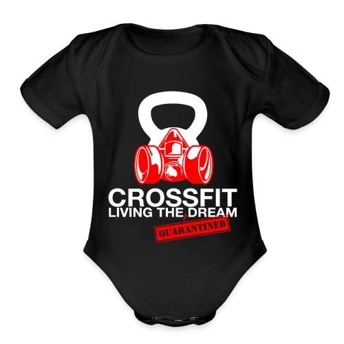 CROSSFIT LTQD - WHITE - Organic Short Sleeve Baby Bodysuit