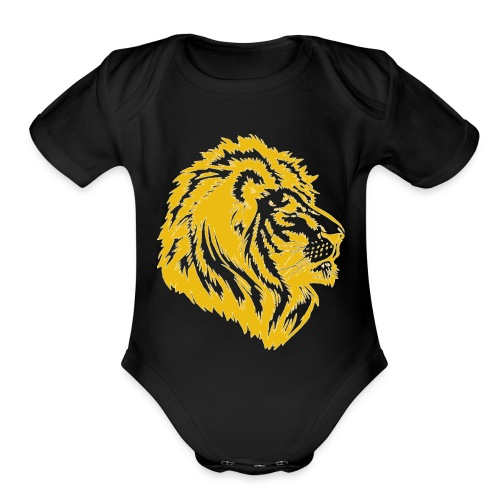 golden lion - Organic Short Sleeve Baby Bodysuit