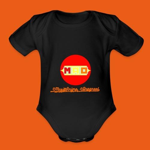 MusaiAnime - Dragneel's New Logo - Organic Short Sleeve Baby Bodysuit