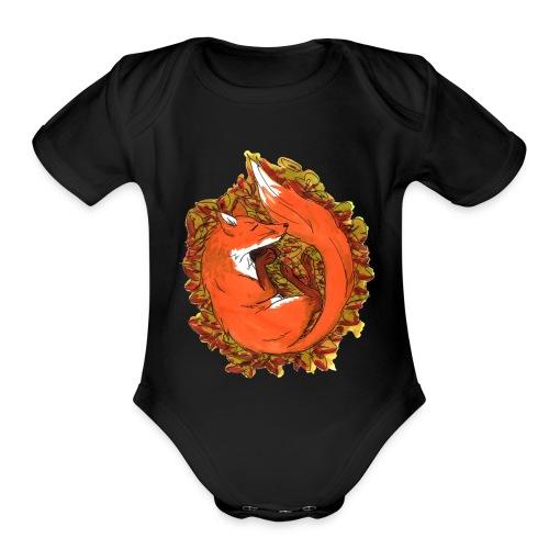 Sleepy fox - Organic Short Sleeve Baby Bodysuit