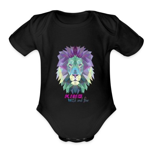 the lion style. - Organic Short Sleeve Baby Bodysuit