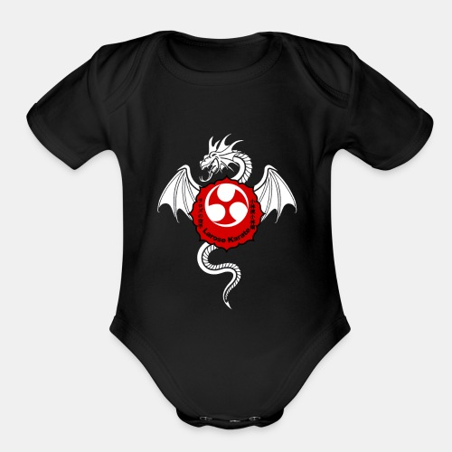 Dragon (W) - Larose Karate - Design Contest 2017 - Organic Short Sleeve Baby Bodysuit