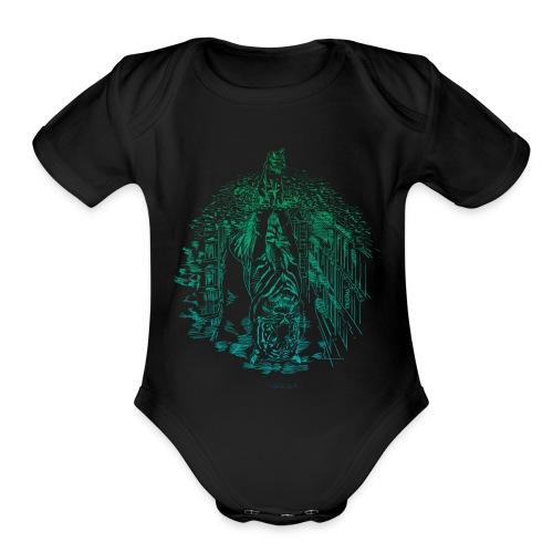 Hidden Tiger 2 - Organic Short Sleeve Baby Bodysuit