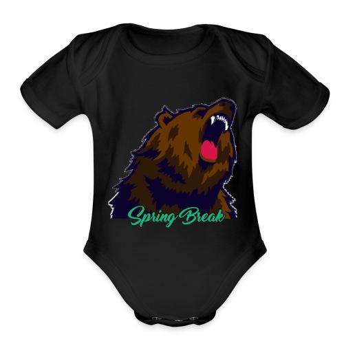Spring Bear - Organic Short Sleeve Baby Bodysuit