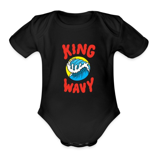KYLE - King Wavy - Organic Short Sleeve Baby Bodysuit
