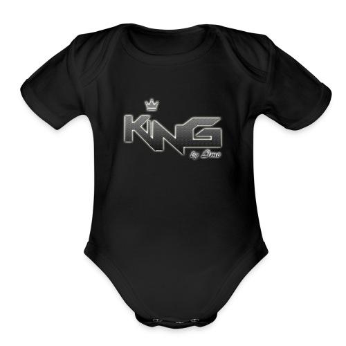 king logo v4 - Organic Short Sleeve Baby Bodysuit