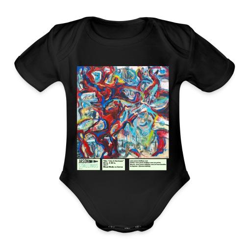 Like a Hurricane - Organic Short Sleeve Baby Bodysuit