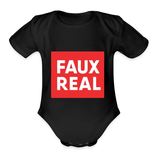 Faux Real Red - Organic Short Sleeve Baby Bodysuit