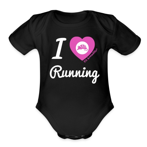 I love running - Organic Short Sleeve Baby Bodysuit