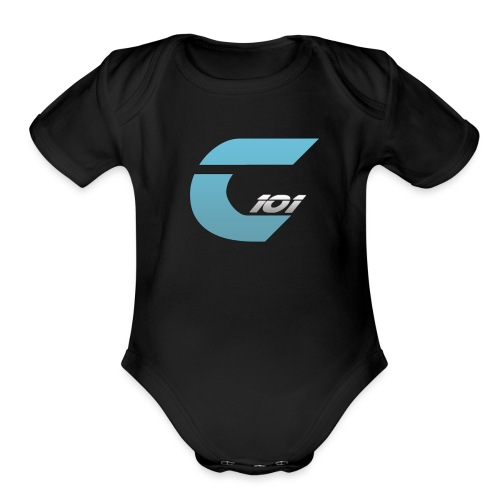 Short Sleeve Clief101 Logo Baby - Organic Short Sleeve Baby Bodysuit
