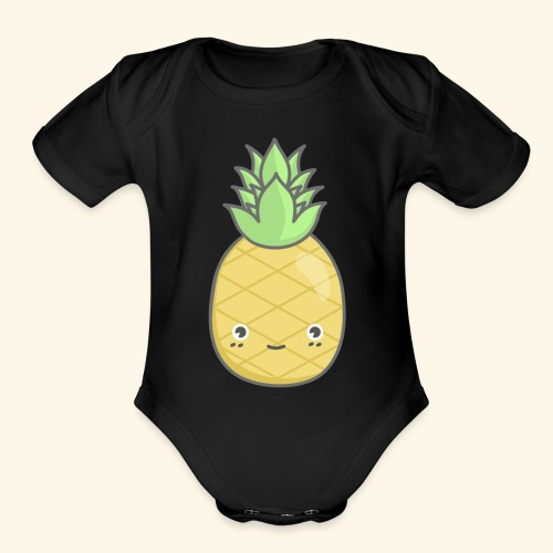 Pineapple Squad - Male - Organic Short Sleeve Baby Bodysuit