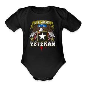US military Veterans - Short Sleeve Baby Bodysuit