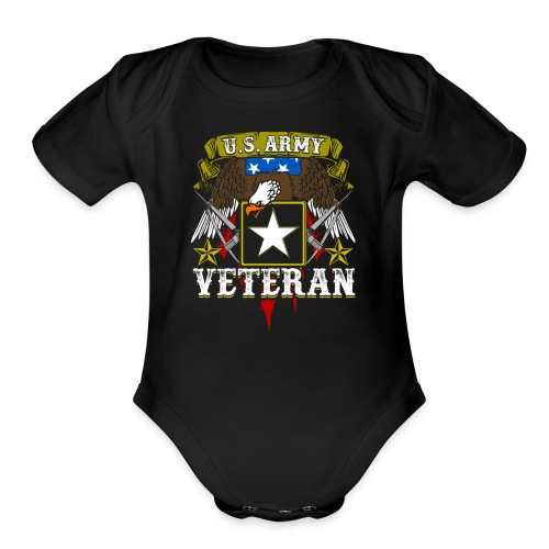 US military Veterans - Organic Short Sleeve Baby Bodysuit