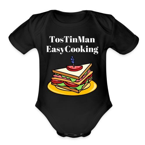 TosTinMan Sandwich - Organic Short Sleeve Baby Bodysuit