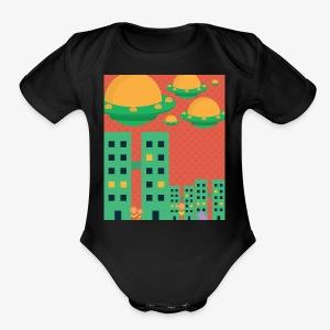 wierd stuff - Short Sleeve Baby Bodysuit