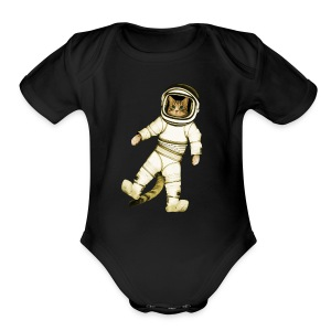 Outer-Space Astronaut Kitty - Short Sleeve Baby Bodysuit