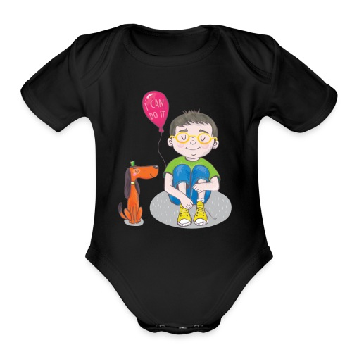 I Can Do It - Organic Short Sleeve Baby Bodysuit