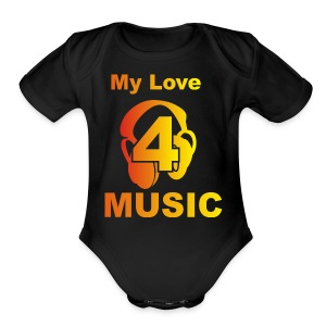 Blackprince LOVE FOR MUSIC - Short Sleeve Baby Bodysuit