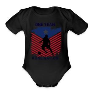 one team one Nation - Short Sleeve Baby Bodysuit