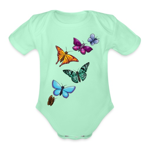 butterfly tattoo designs - Organic Short Sleeve Baby Bodysuit