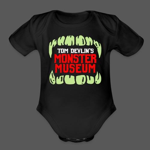 Monster Museum Mouth - Organic Short Sleeve Baby Bodysuit
