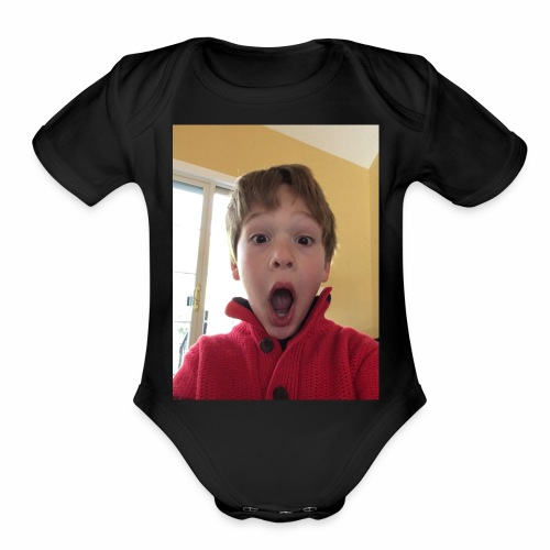 Me Suprised When My Dadn Sayed I Could Post Videos - Organic Short Sleeve Baby Bodysuit