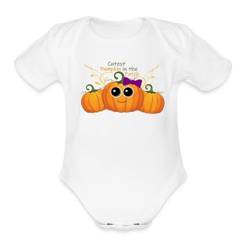 cutest pumpkin - Organic Short Sleeve Baby Bodysuit
