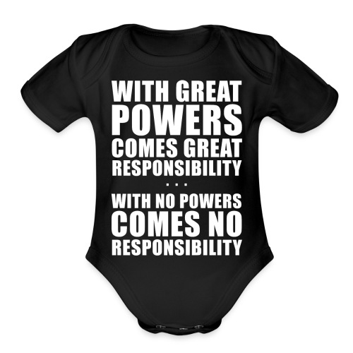 Great Powers - Organic Short Sleeve Baby Bodysuit
