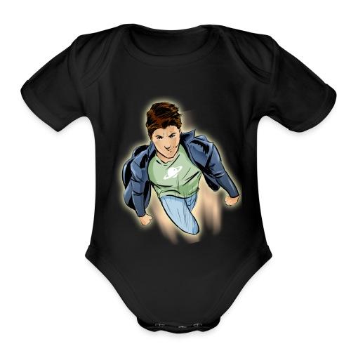 amir tshirt - Organic Short Sleeve Baby Bodysuit