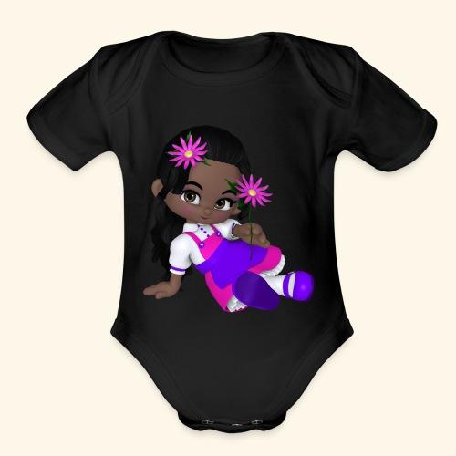 african dall - Organic Short Sleeve Baby Bodysuit