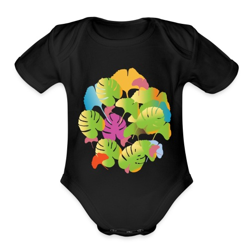 Flora - Organic Short Sleeve Baby Bodysuit