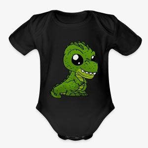 Dinosaur - Short Sleeve Baby Bodysuit