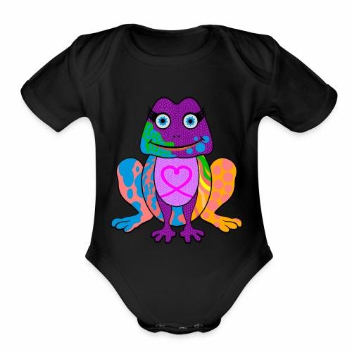 I heart froggy - Organic Short Sleeve Baby Bodysuit