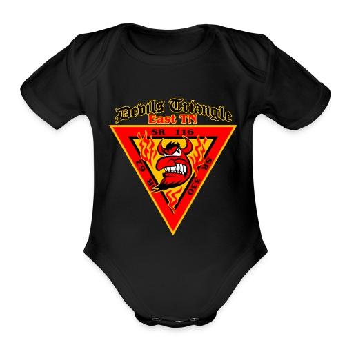 Devils Triangle Tennessee - Organic Short Sleeve Baby Bodysuit