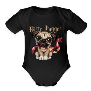 Harry Pugger Best Gift for pug lovers - Short Sleeve Baby Bodysuit