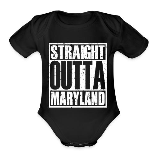 Straight Outta Maryland - Organic Short Sleeve Baby Bodysuit