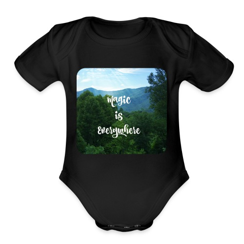 magic1 - Organic Short Sleeve Baby Bodysuit