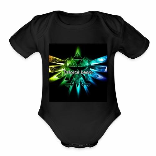 Teme logo - Organic Short Sleeve Baby Bodysuit