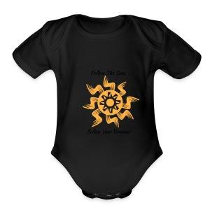 Follow The Sun - Short Sleeve Baby Bodysuit