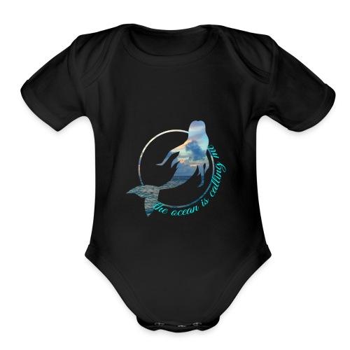 ocean - Organic Short Sleeve Baby Bodysuit