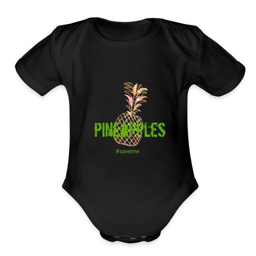 pineapples - Organic Short Sleeve Baby Bodysuit