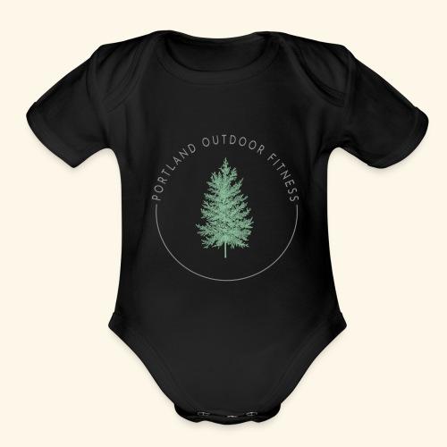 Circle Logo Bolded - Organic Short Sleeve Baby Bodysuit