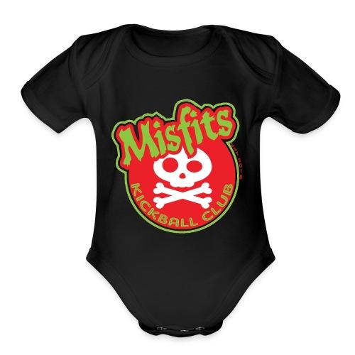 Misfits New Logo - Organic Short Sleeve Baby Bodysuit