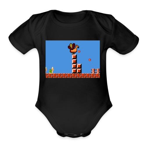 Thanksgiving gaming - Organic Short Sleeve Baby Bodysuit