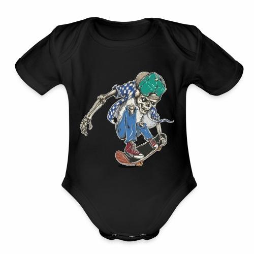 Keep on pushing - Organic Short Sleeve Baby Bodysuit