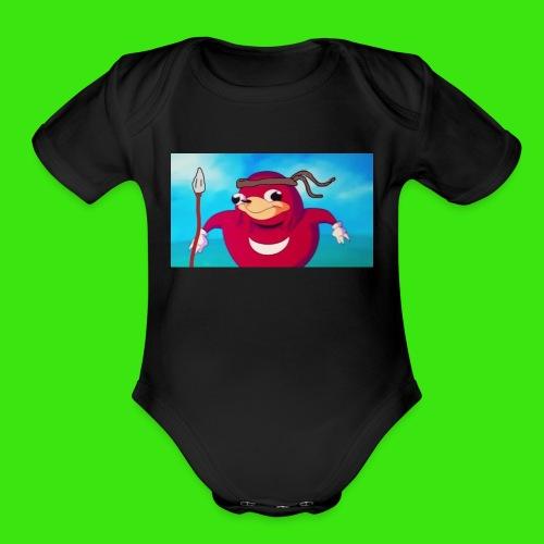 Do you know de wei - Organic Short Sleeve Baby Bodysuit